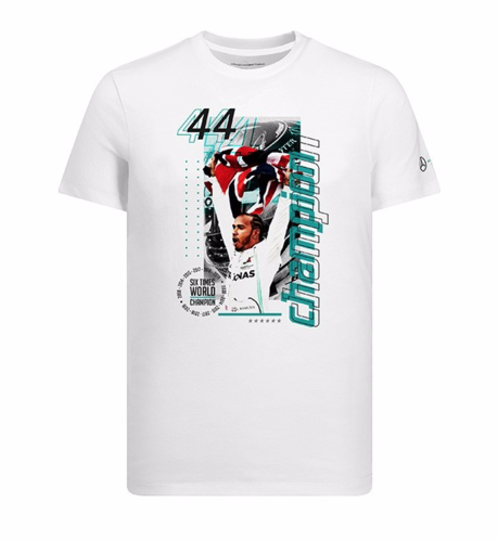 Official 2019 Lewis Hamilton 6 Times World Champion T-Shirt