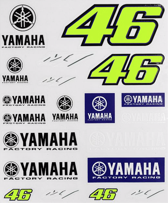 YAMAHA VR46 LARGE STICKERS SET