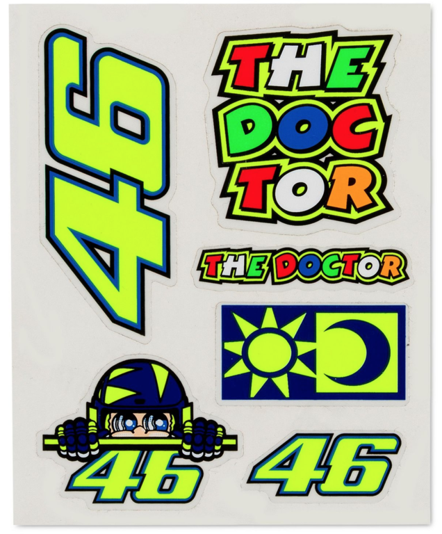 Valentino Rossi VR46 Classic Stickers Small Set